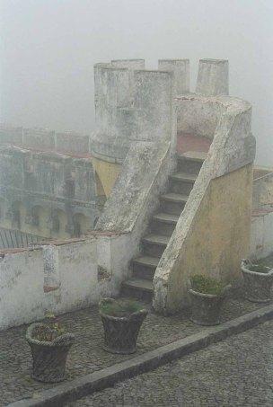 Trap in de mist